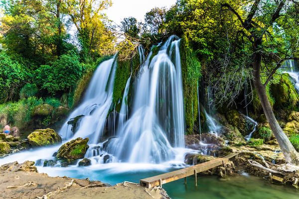 Les chutes de Kravice en Bosnie Herzogovine