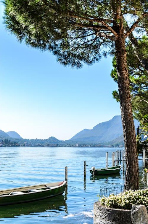 vue sur le lac de Lugano en Suisse