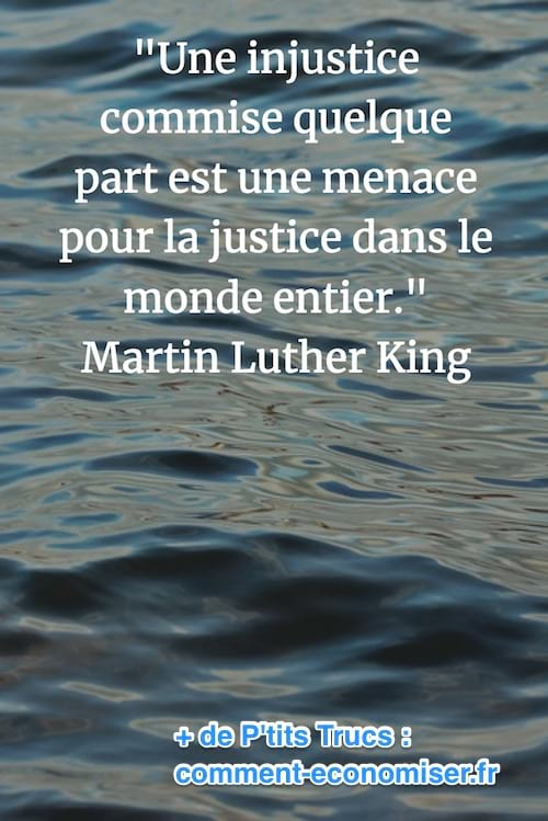 citation de Martin Luther King sur l'injustice