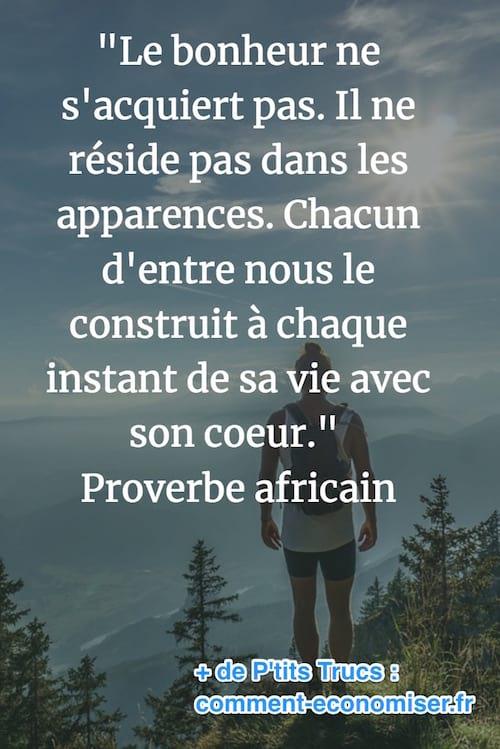 proverbe africain sur le bonheur