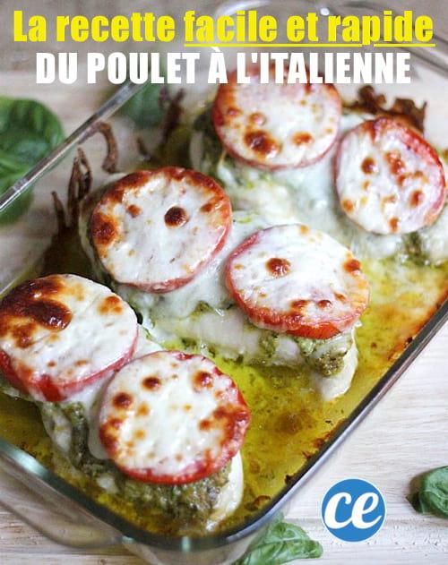 la recette du poulet à l'italienne prête en 5 min avec 4 ingrédients seulement