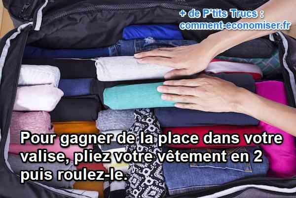 l 39 astuce g niale pour gagner beaucoup de place dans sa valise. Black Bedroom Furniture Sets. Home Design Ideas