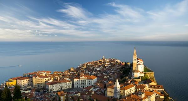 vue de la ville de Piran en Slovénie