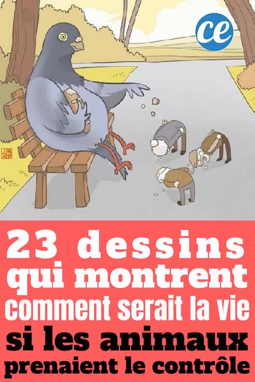 23 dessins qui montrent comment serait la vie si les animaux prenaient le contrôle
