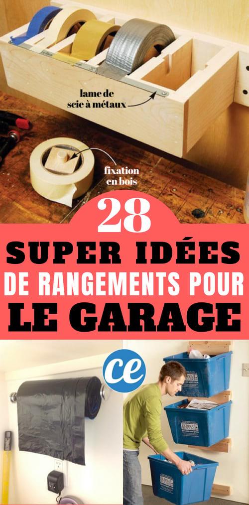 Quelles sont les meilleures astuces et idées de rangement pour gagner de la place dans votre garage ?