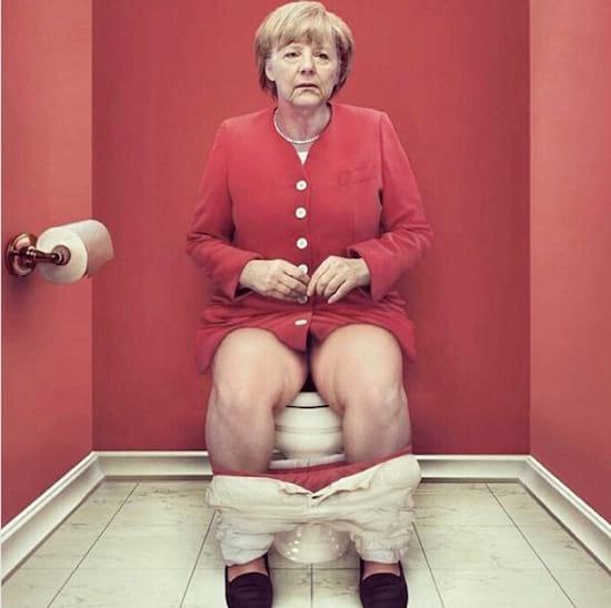 angela Merkel vue par Cristina guggeri