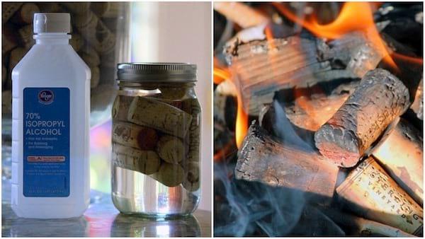 Comment transformer des bouchons de liège en allume-feux