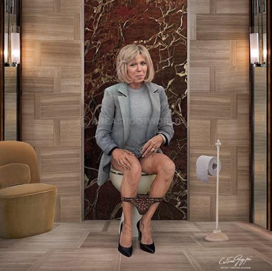 Brigitte Macron vue par Cristina Guggeri