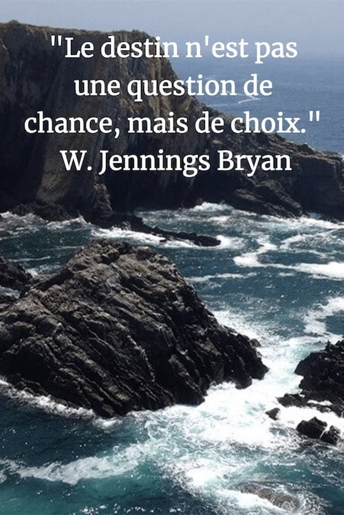 citation de Jennings Bryan sur le rôle du destin