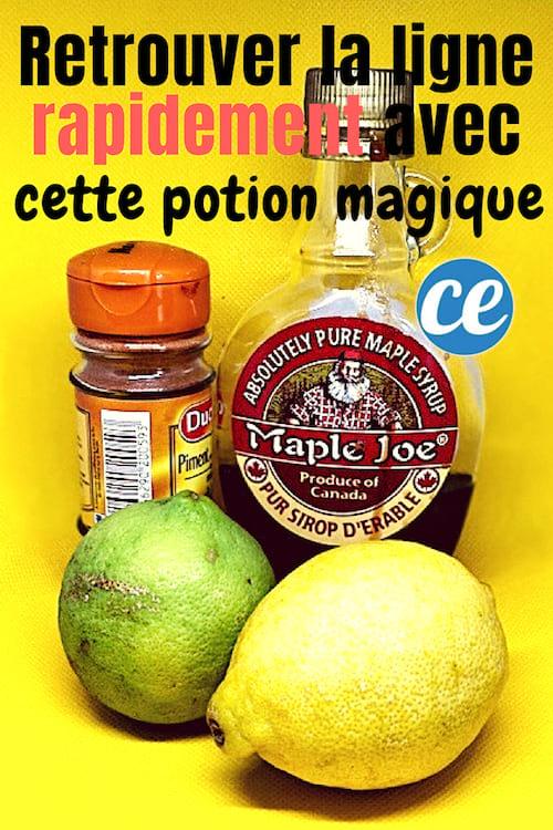 la boisson régime détox au citron pour maigrir