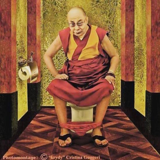 le Dalaï Lama vu par Cristina Guggeri