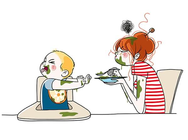 Une maman montre ce que c 39 est vraiment d 39 avoir des enfants avec 25 dessins de la vraie vie - Dessin manger ...