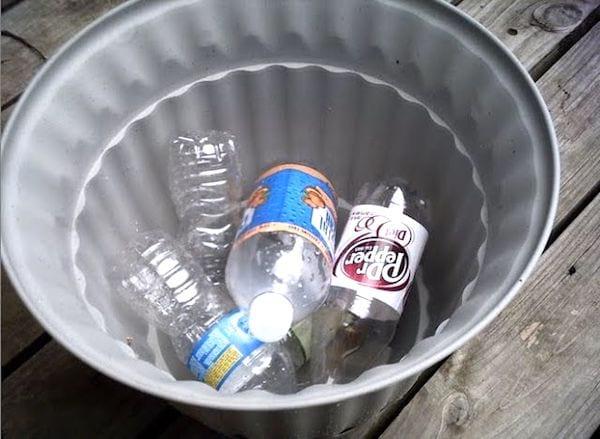 drainer pot de fleur avec bouteille en plastique