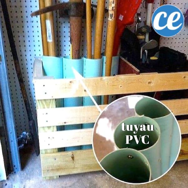 Un Autre Exemple De Rangement Avec Des Tuyaux En PVC