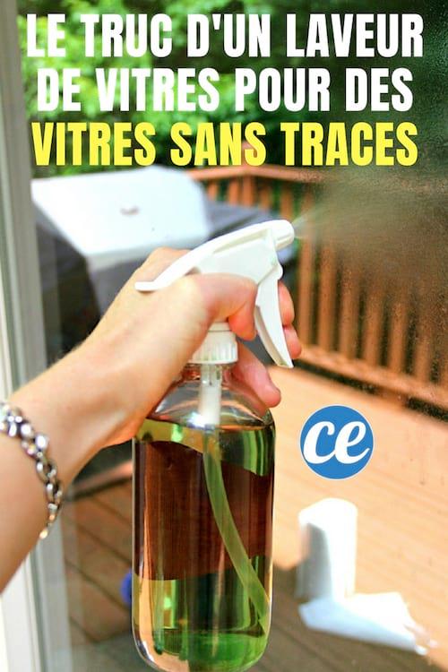 comment laver ses vitres sans faire de traces