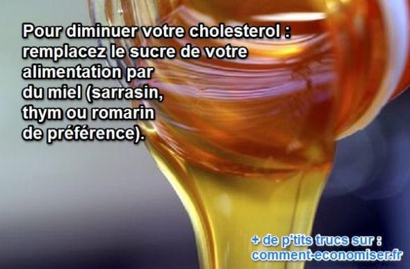 le miel à la place du sucre diminue le cholesterol