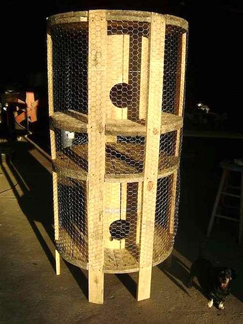 bobines de fil de chantier pour un poulailler circulaire