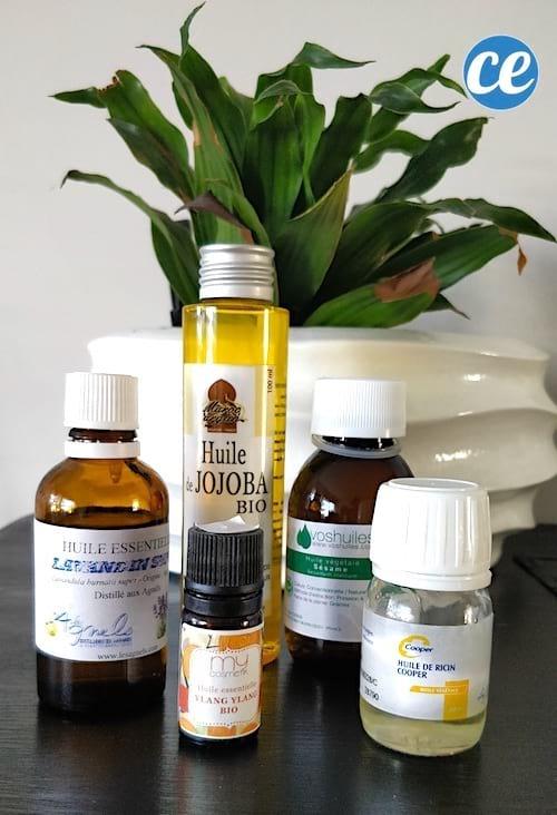 faire son huile sèche pour cheveux huile jojoba et sésame