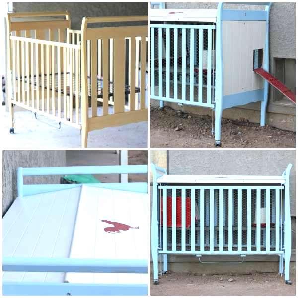 poulailler original lit pour bébé