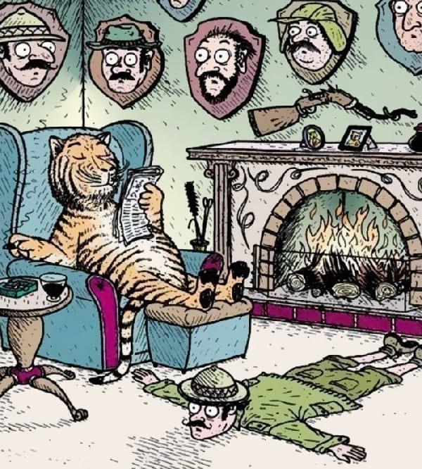 tigre-avec-trophee-de-chasse