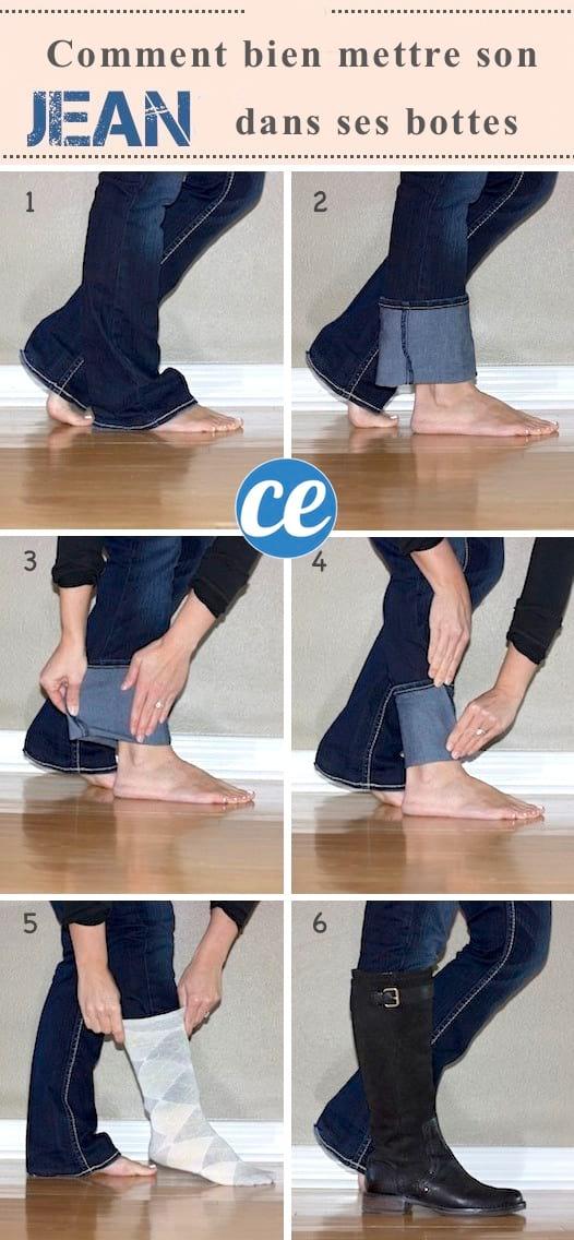 comment rentrer le jean dans les bottes