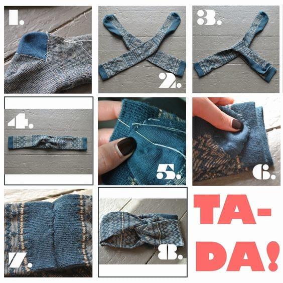 créez un bandeau pour oreille avec une chaussette