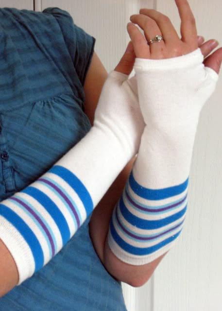créez des mitaines avec chaussette