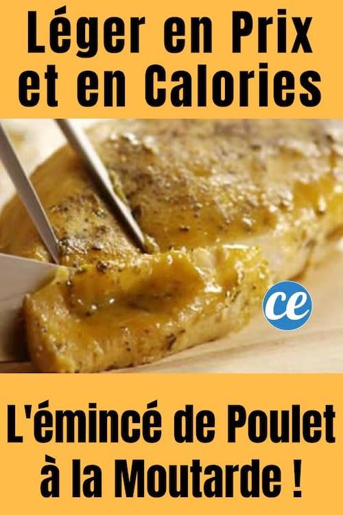 recette légère facile et pas chère de l'émincé de poulet à la moutarde