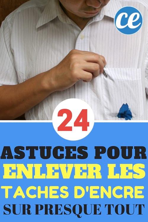 24 astuces pour enlever une tache d'encre sur un tissu ou du cuir