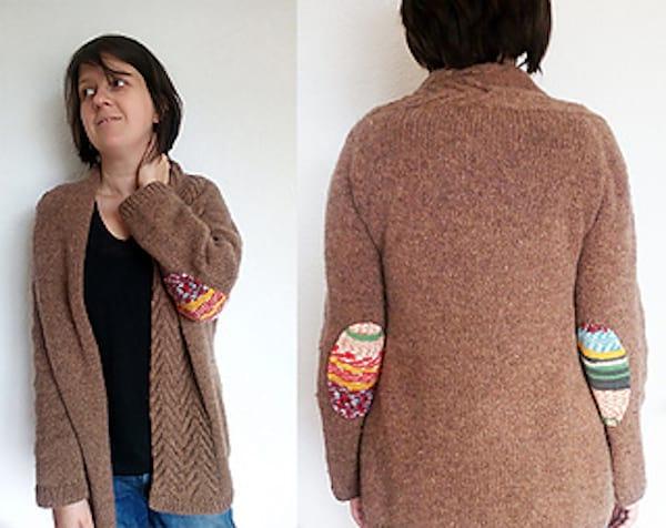 faire des patchs aux coudes d'un pull facilement