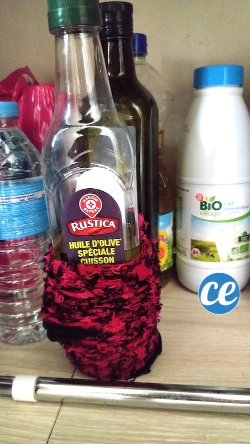 protéger bouteille qui coule ou colle