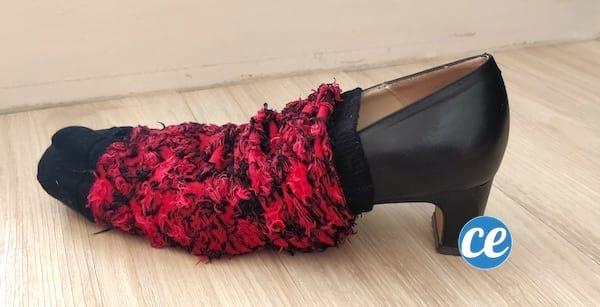 protéger les escarpins dans chaussette pendant voyage
