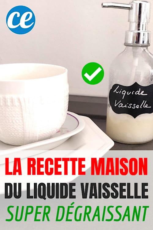 enfin une recette de liquide vaisselle fait maison super d graissant. Black Bedroom Furniture Sets. Home Design Ideas