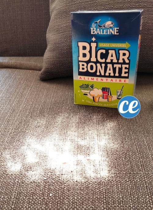 saupoudrer bicarbonate de soude sur canapé nettoyage à sec