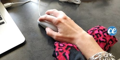 soulager poignet pour éviter tendinite ordinateur