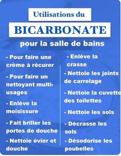 comment utiliser le bicarbonate de soude dans la salle de bain