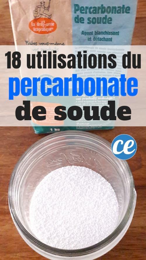 18 utilisations du percarbonate de soude à la maison