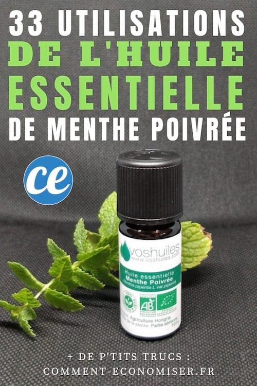 Huile essentielle menthe poivrée : 33 utilisations à connaître pour la santé, beauté et ménage