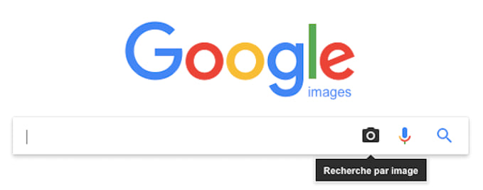 La page d'accueil de Google Images pour faire des recherches par image.