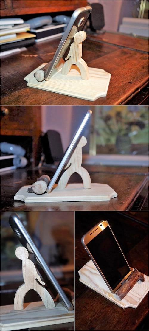 support en bois de palette pour portable