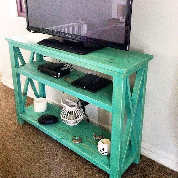 console en palette pour la Tv