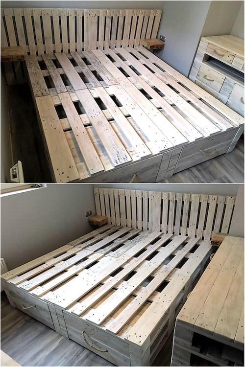 meubles pour la chambre en palette