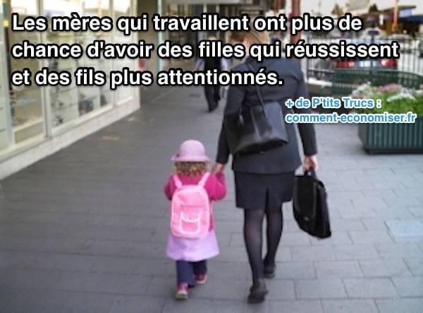 Avantages des mères qui travaillent au lieu d'être mère au foyer