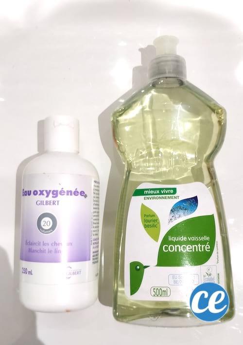 eau oxygénée liquide vaisselle