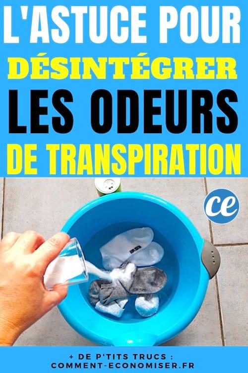 Du bicarbonate pour éliminer les odeurs de transpiration sur les habits