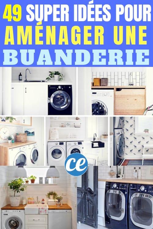 49 exemples astucieux de buanderie que vous aimeriez bien. Black Bedroom Furniture Sets. Home Design Ideas
