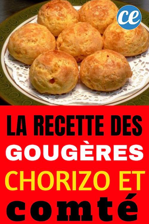 recette facile des gougères au chorizo et au comté