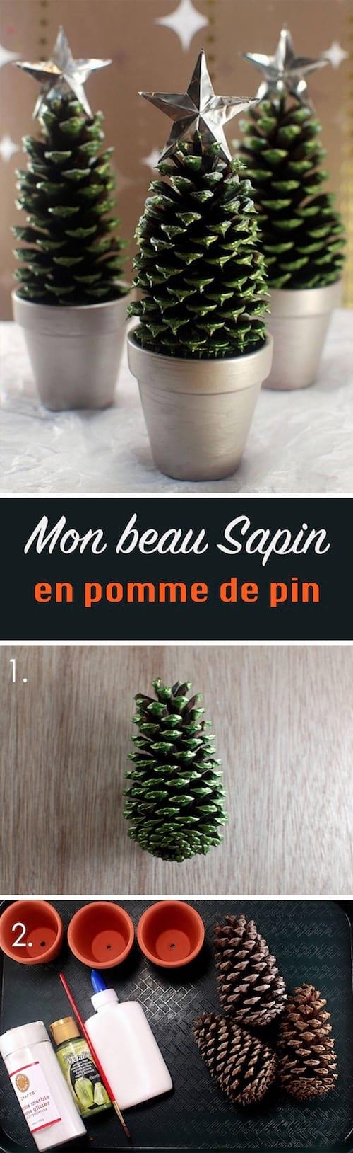 Petits Sapins En Pomme De Pin Pour Noel