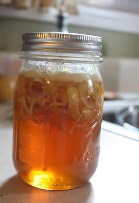 sirop à base de miel et d'oignon
