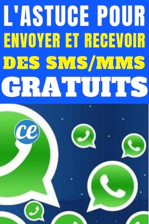 L'application whatsapp pour envoyer et recevoir sms mms